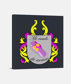 Escudo de armas,ideal para mamá. Lienzo Cuadrado 1:1 - (40 x 40 cm)