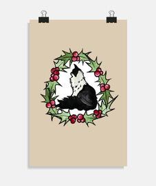 esmoquin gato navidad