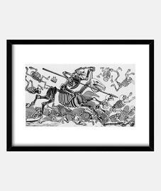 Esqueleto Don Quijote, negro