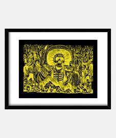 Esqueleto oaxaqueño, amarillo