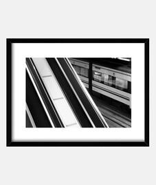 Estación tren blanco y negro ( fotograf