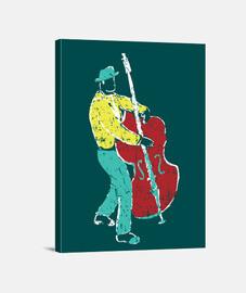 estilo de pintura de músico de jazz