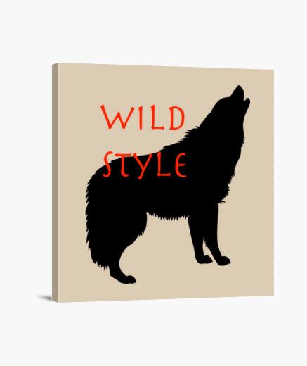 Lienzo estilo salvaje el lobo