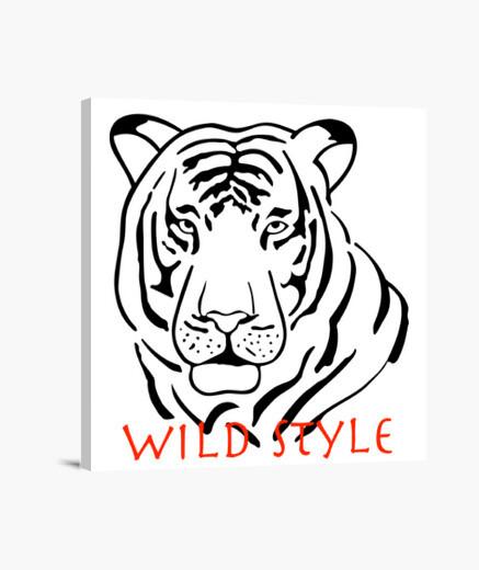 Lienzo estilo salvaje el tigre