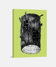 étranges créatures dans le journal des arbres