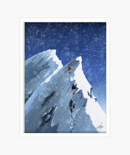 Everest framed print