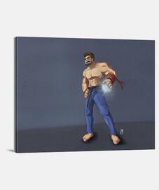 Evil Ryu_Fanart_Lienzo Horizontal 4:3 - (40 x 30 cm)