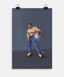 Evil Ryu_Fanart_Póster vertical 2:3 - (20 x 30 cm)