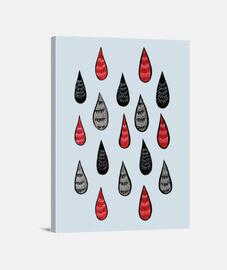 extrañas gotas de lluvia tinta patrón r