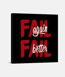 Fail again. Fail better