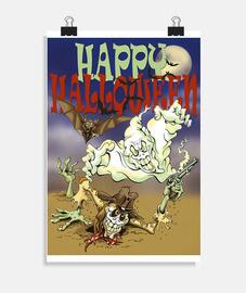 Fantôme, zombie et chauve-souris