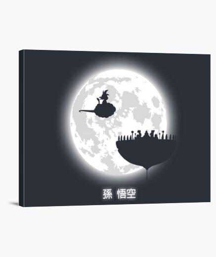 Stampa su tela fate attenzione della luna...