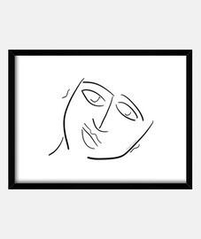 Felicidad Cuadro horizontal (4:3) marco negro