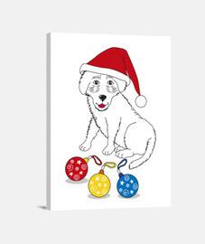 Feliz Navidad pequeño perro