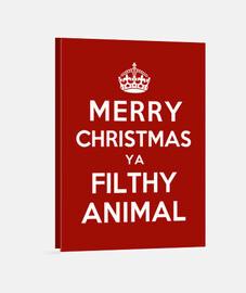 feliz navidad ya sucio animal