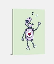 feliz robot que canta