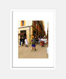 Festival - Cuadro con marco blanco vertical 3:4 (15 x 20 cm)
