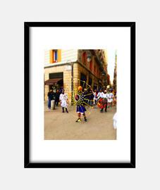 Festival - Cuadro con marco negro vertical 3:4 (15 x 20 cm)