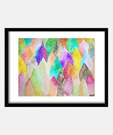 feuilles colorées 1