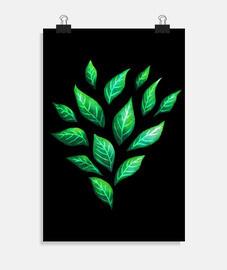feuilles vertes décoratives abstraites