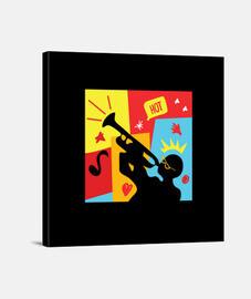 fiesta de músico trompeta juguetona