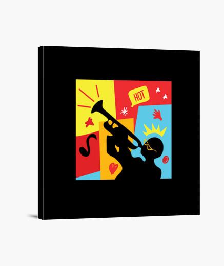 Tableau fiesta musicienne trompette ludique