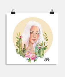 fille de cactus