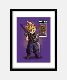 Final Fantasy VII GO Cuadro con marco vertical 3:4 (30 x 40 cm)