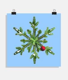 fiocco di neve di pino innevato Natale