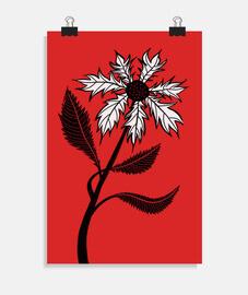 fiore gotico in bianco e nero con inchi