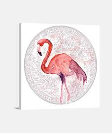 Flamenco 01 - Lienzo Cuadrado 1:1 - (40 x 40 cm)