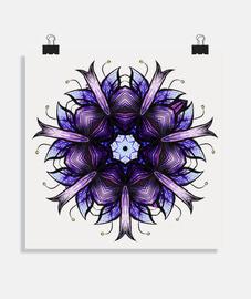 fleur kaléidoscopique abstraite en viol