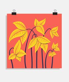 fleurs jaunes abstraites