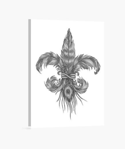 Flor de lis de plumas Lienzo