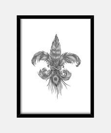 Flor de lis Plumas cuadro