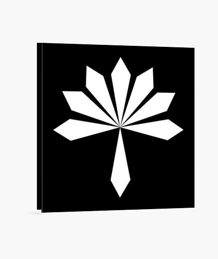 Lienzo flor de metal blanco