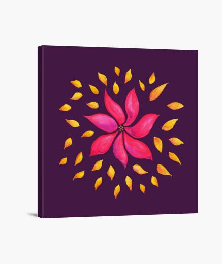 Lienzo flor rosada caprichosa abstracta de la acuarela