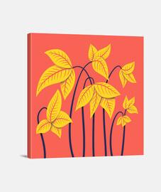 flores amarillas abstractas