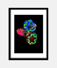 Flores de colores, Cuadro con marco vertical 3:4 (30 x 40 cm)
