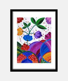 Flores y colores  (30 x 40 cm)