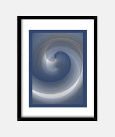 Flujos Azul, Cuadro con marco vertical 3:4 (30 x 40 cm)