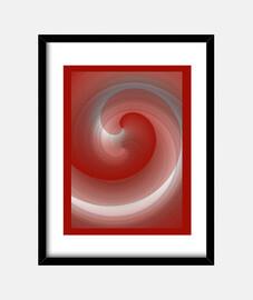 Flujos Rojo, Cuadro con marco vertical 3:4 (30 x 40 cm)