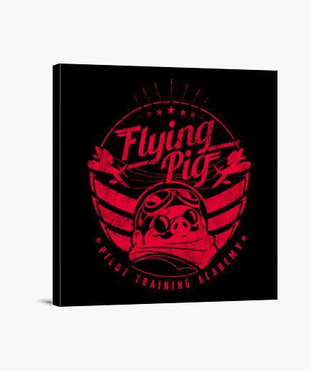 Lienzo Flying Pig