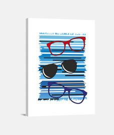 fondo azul gafas gafas