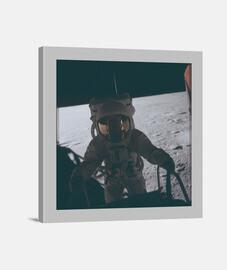 Fotografía Astronauta misiones apollo Lienzo Cuadrado 1:1 - (40 x 40 cm)