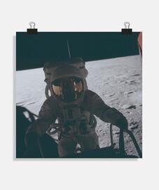 Fotografía Astronauta misiones apollo Póster cuadrado 1:1 - (40 x 40 cm)