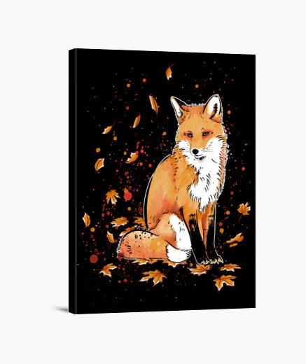 Lienzo Fox in the Night