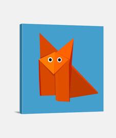 fox lindo de origami