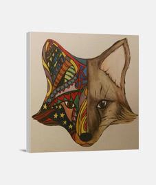 Fox, Zorro. Lienzo Cuadrado 1:1 - (40 x 40 cm)