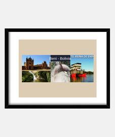 frame with black horizontal frame 4: 3 (20 x 15 cm) beni turismo